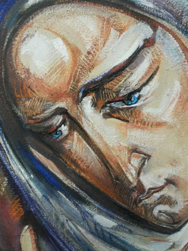 """Painting titled """"3.Mother of Mercy"""" by Roman Bonchuk, Original Art, Acrylic"""