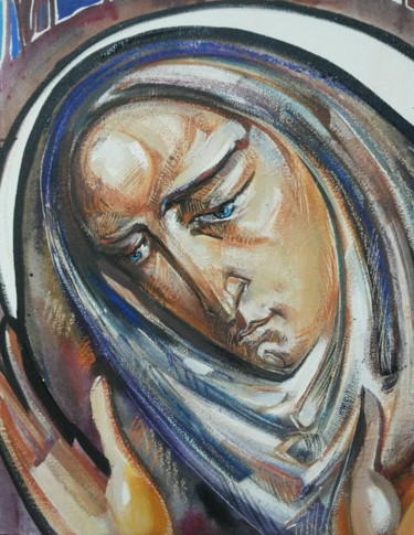 """Painting titled """"5.Mother of Mercy…"""" by Roman Bonchuk, Original Art, Acrylic"""
