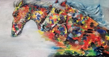 """Painting titled """"Running towards fre…"""" by Vesna Todorovic, Original Art, Oil"""