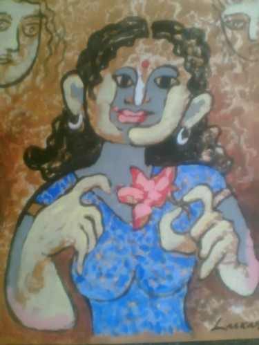14.2x11 in ©2008 by INDIAN ARTIST sibsankar s PAINTING
