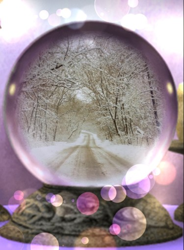"""Photography titled """"Snow Globe"""" by Artistry By Ajanta, Original Art, Digital Photography"""