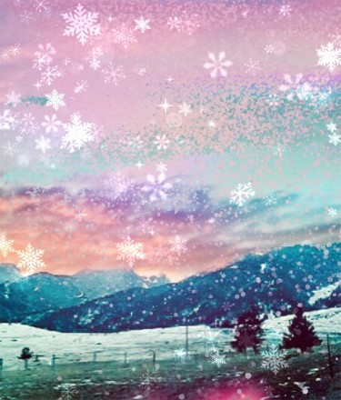 """Photography titled """"Crystal Snowflakes"""" by Artistry By Ajanta, Original Art, Digital Photography"""