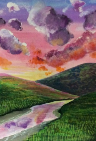 """Painting titled """"Spring's Hope"""" by Artistry By Ajanta, Original Art, Watercolor"""
