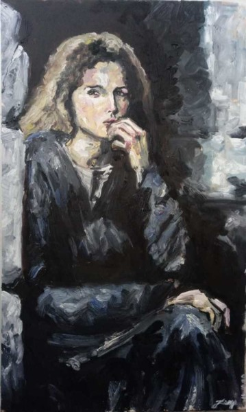 """Painting titled """"Maria Magdalena na…"""" by Jorge Quiros Jorge Paulo Quiros, Original Art, Oil"""