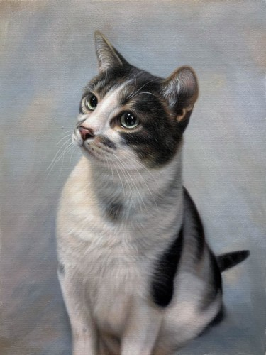 Painting, oil, artwork by James Shang