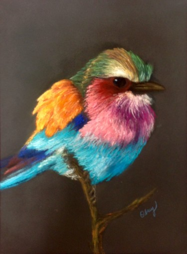 Painting, pastel, classicism, artwork by Obrey