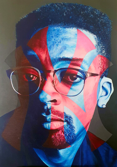 """Painting titled """"SPIKE LEE"""" by Loco Art, Original Art, Acrylic"""