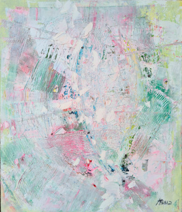 """Painting titled """"White abstraction"""" by Tatyana Ermolchik, Original Art, Oil"""