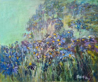 """Painting titled """"Flower composition…"""" by Tatyana Ermolchik, Original Art, Oil"""