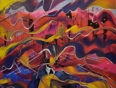 Painting, acrylic, abstract, artwork by Maksym Rybalko