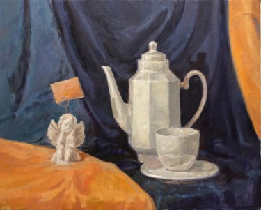 """Painting titled """"Still life with Ang…"""" by Vsevolod Chistiakov, Original Art, Oil"""