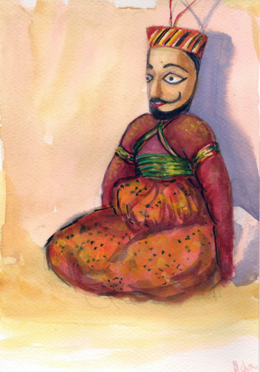 """Painting titled """"Still life with an…"""" by Art By Aashaa, Original Art, Watercolor"""