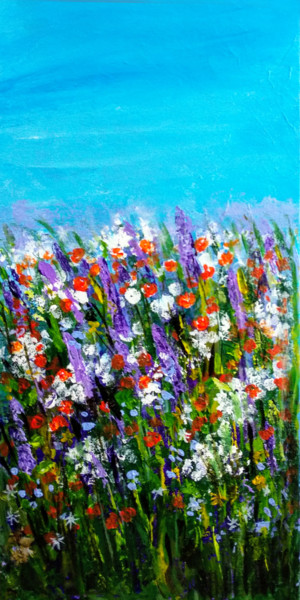 Flower Painting, acrylic, impressionism, artwork by Art By Aashaa