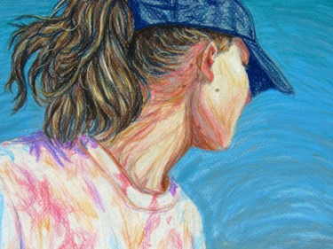 Drawing, pastel, illustration, artwork by Ashley Fimbel