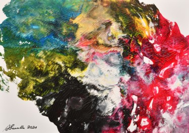 """Painting titled """"Abstract Acrylic Pa…"""" by Alfred Georg Sonsalla, Original Art, Acrylic"""