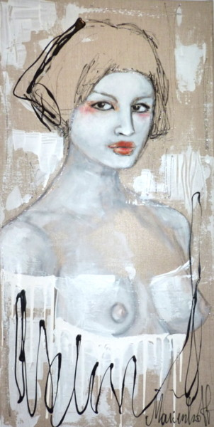 Feminine Painting, acrylic, abstract, artwork by Audrey Marienkoff