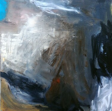 """Painting titled """"Time in black and b…"""" by Aurélie Jeannin, Original Art, Oil Mounted on Stretcher frame"""