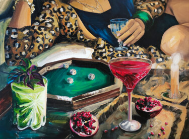 """Painting titled """"Flash le rhum"""" by Aurélie Quentin, Original Art, Oil Mounted on Stretcher frame"""