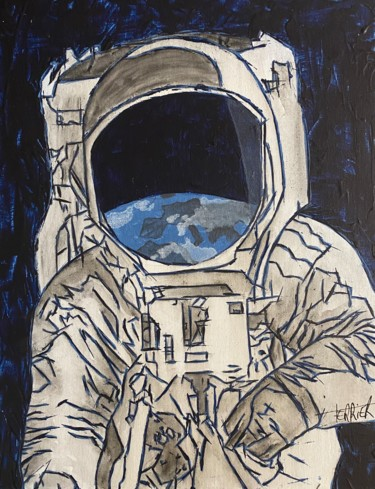 """Painting titled """"Astro"""" by Aurore Terrier, Original Art, Acrylic"""