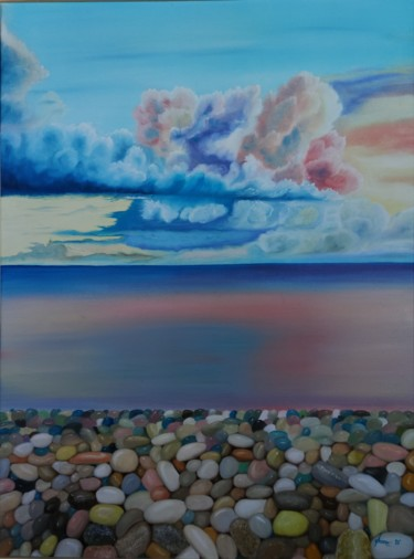 """Painting titled """"Nature's Beautiful…"""" by Ausra Manamangas, Original Art, Oil Mounted on Stretcher frame"""