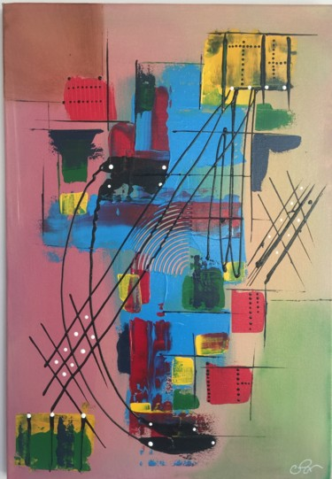 Painting, acrylic, abstract, artwork by Alain Vergier