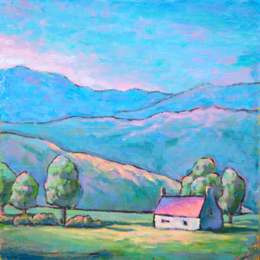 """Painting titled """"Oil landscape paint…"""" by Alex Victor Ihnatenko, Original Art, Oil Mounted on Stretcher frame"""