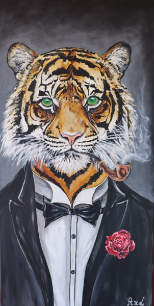 """Painting titled """"Tiger Bond"""" by By Axl, Original Art, Acrylic"""