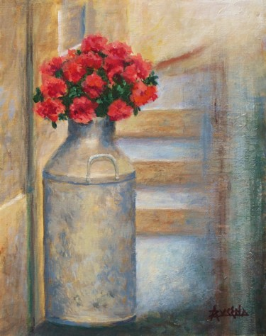 """Painting titled """"Bouquet d'antan - O…"""" by Azucena, Original Art, Acrylic Mounted on Stretcher frame"""