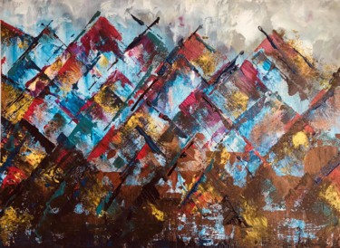 Painting, acrylic, abstract, artwork by Veronika Holiencin