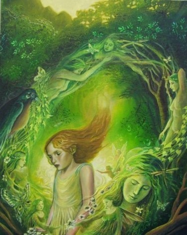 """Painting titled """"Entering the Realm…"""" by Emily Balivet, Original Art, Other"""