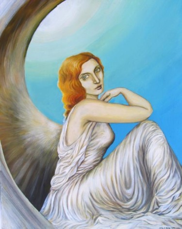 """Painting titled """"Blue Angel"""" by Emily Balivet, Original Art, Other"""