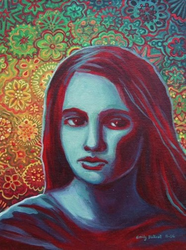"""Painting titled """"Blue Daughter"""" by Emily Balivet, Original Art, Other"""