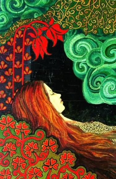 """Painting titled """"Sleeping Lady"""" by Emily Balivet, Original Art, Oil"""