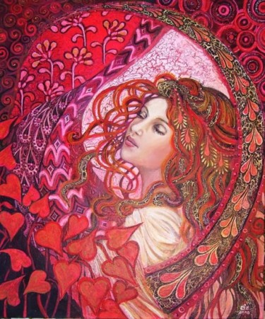 """Painting titled """"Aphrodite's Child"""" by Emily Balivet, Original Art,"""