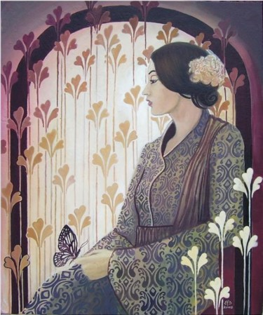 """Painting titled """"Madame Butterfly"""" by Emily Balivet, Original Art, Oil"""