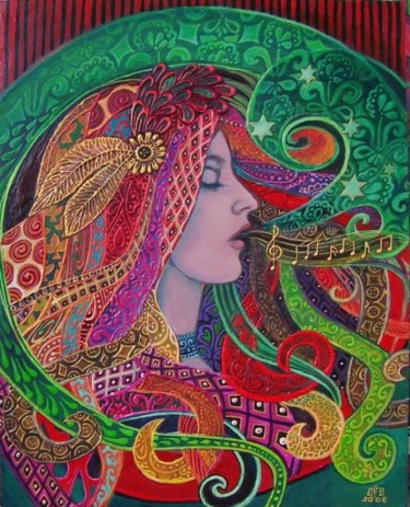 """Painting titled """"Mezzo Goddess"""" by Emily Balivet, Original Art, Other"""