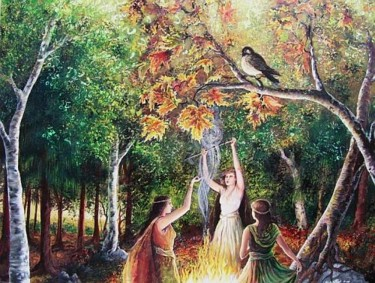 """Painting titled """"The Coven"""" by Emily Balivet, Original Art, Other"""