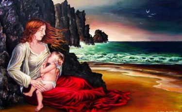 """Painting titled """"The Lap"""" by Emily Balivet, Original Art, Other"""