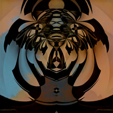 """Digital Arts titled """"behind the mask"""" by Barry King (CurvilinearArt), Original Art, Digital Painting"""