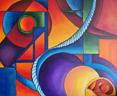 """Painting titled """"The World Through B…"""" by Barry King (CurvilinearArt), Original Art, Acrylic"""