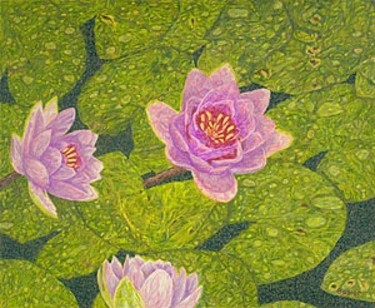 """Digital Arts titled """"Water Lilies Lily F…"""" by Fine Art Prints Fish Flowers Baslee Troutman, Original Art, Other"""