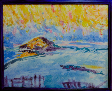 """Painting titled """"Inspiration Erdeven"""" by Beame, Original Art, Watercolor"""