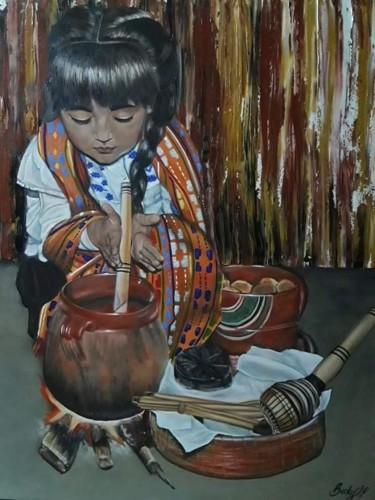 Painting, oil, figurative, artwork by Becky Torres