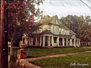 """Photography titled """"Historical Houses 9"""" by Bella Bourgeois, Original Art, Digital Photography"""
