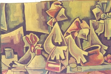 Painting, artwork by Benedict Edet