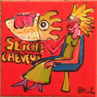 """Painting titled """"Seiche cheveux"""" by Benis, Original Art, Acrylic"""
