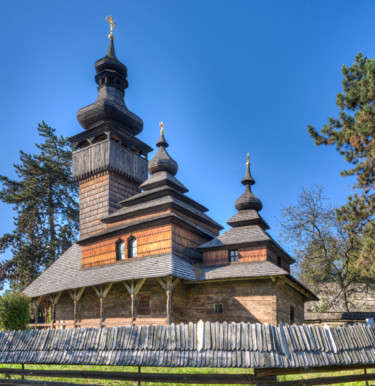"""Photography titled """"Old wooden church f…"""" by Benjamin, Original Art, Digital Photography"""