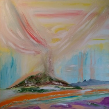 """Painting titled """"Planet 2020"""" by Bennu, Original Art, Oil"""