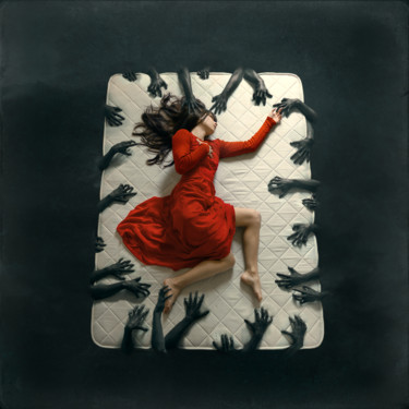"""Photography titled """"Enjoy the nightmare"""" by Bettina Dupont, Original Art, Manipulated Photography"""