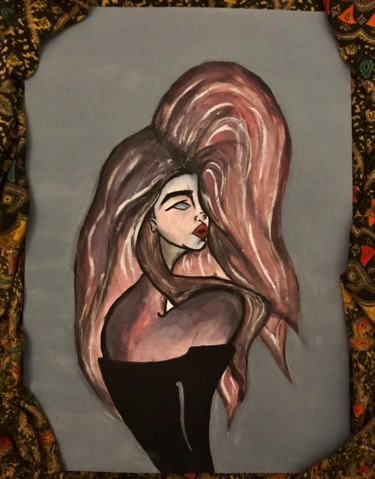 Women Painting, acrylic, expressionism, artwork by Bilge Delice